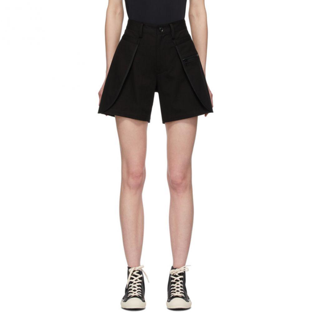 ワイズ Y's レディース ショートパンツ ボトムス・パンツ【Black Cover Pocket Shorts】Black