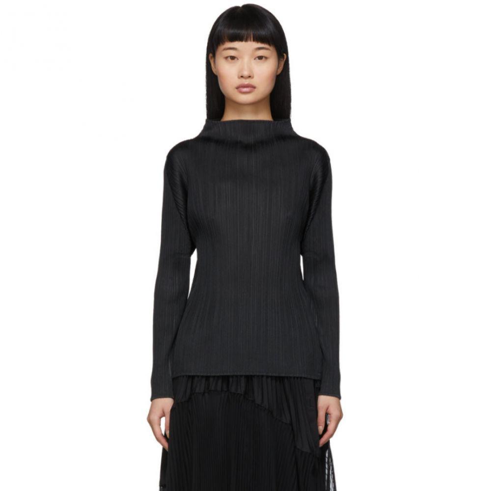 プリーツ プリーズ イッセイ ミヤケ Pleats Please Issey Miyake レディース トップス 【Black Pleats Basics Turtleneck】Black