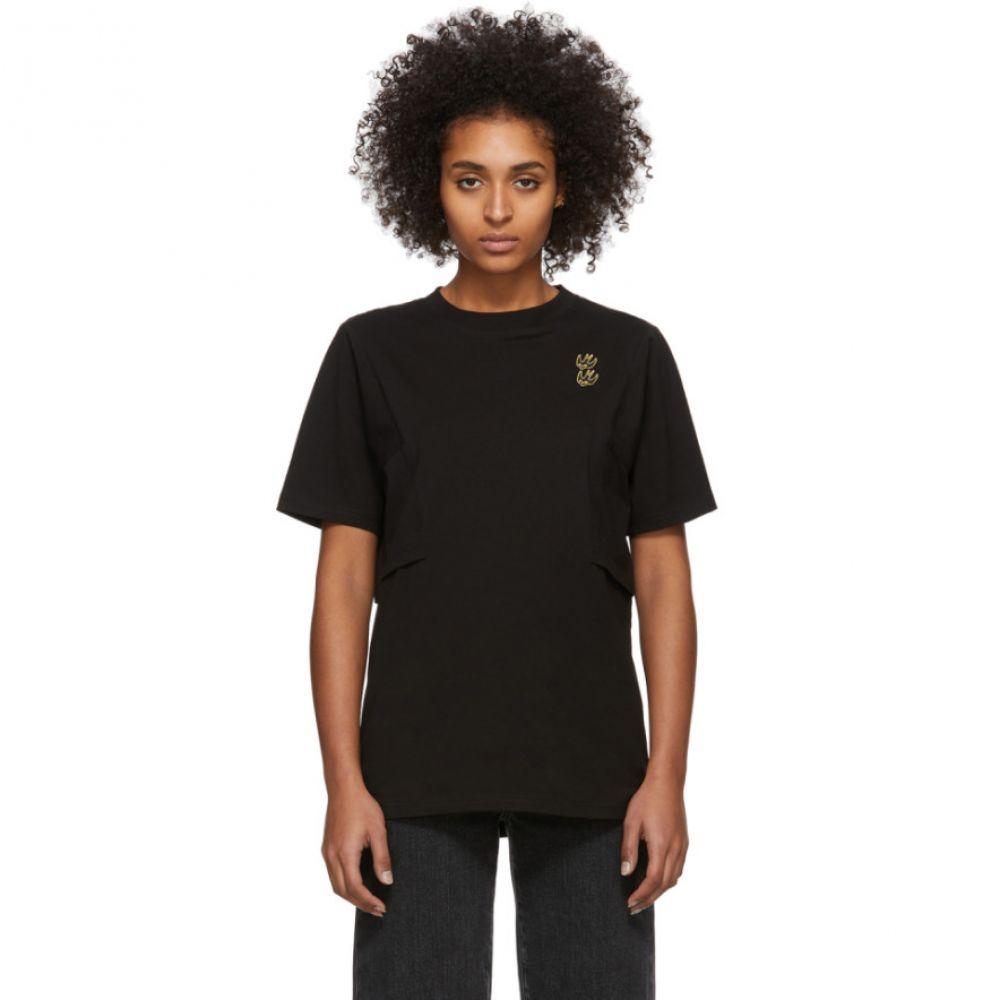 アレキサンダー マックイーン McQ Alexander McQueen レディース Tシャツ トップス【Black Shizoku Boyfriend T-Shirt】Black