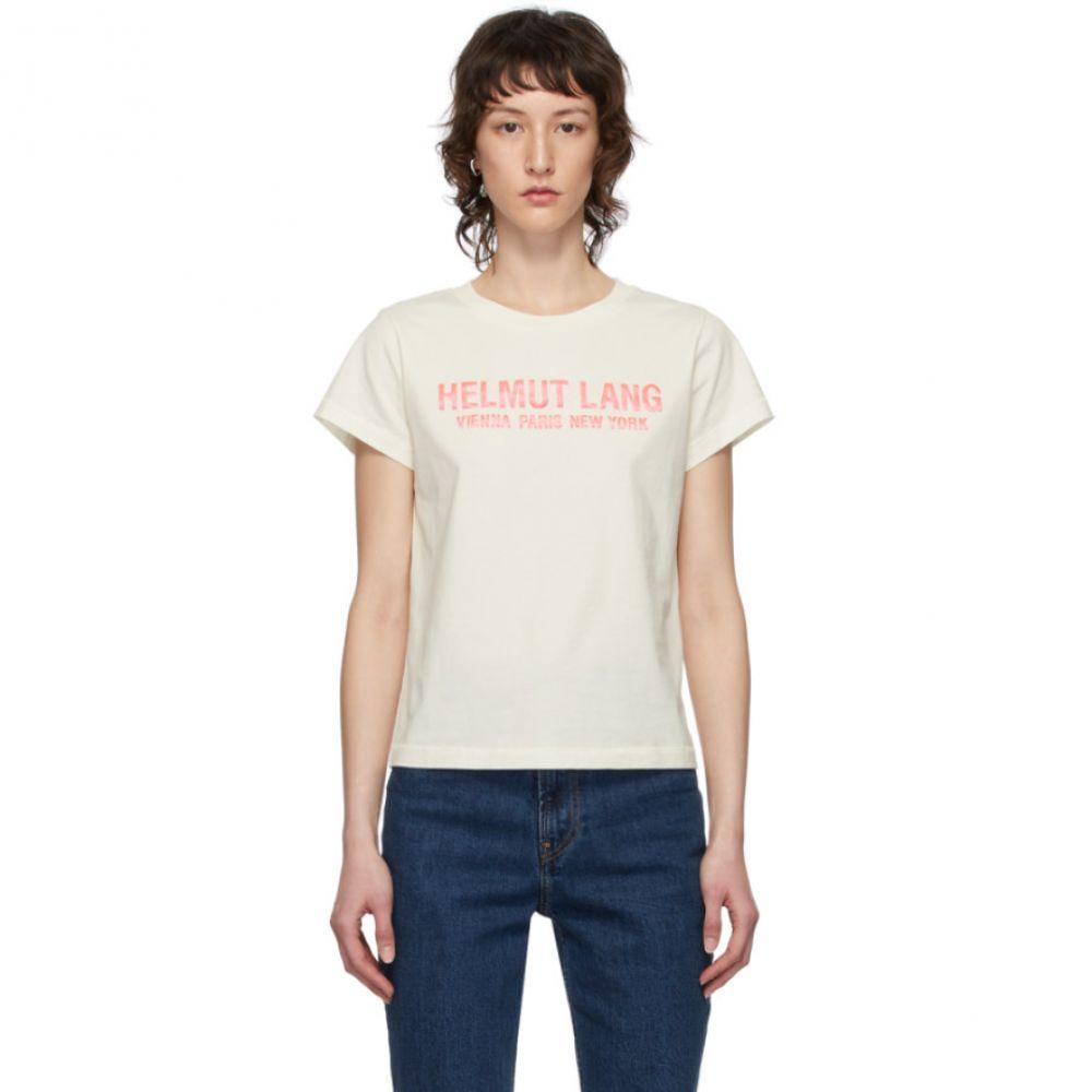 ヘルムート ラング Helmut Lang レディース Tシャツ トップス【Off-White Baby T-Shirt】Calcium