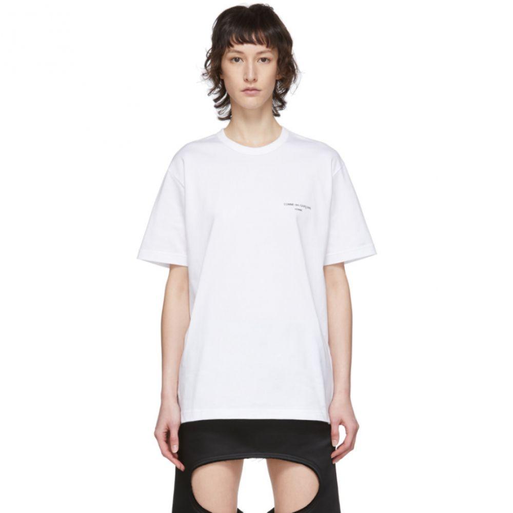 コム デ ギャルソン Comme des Garcons Homme Plus レディース Tシャツ トップス【White Logo T-Shirt】White