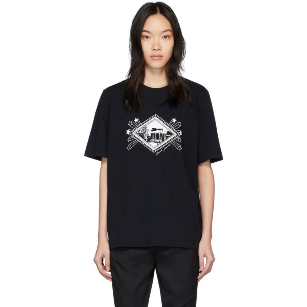 イヴ サンローラン Saint Laurent レディース Tシャツ トップス【Black Jardin Majorelle T-Shirt】Black