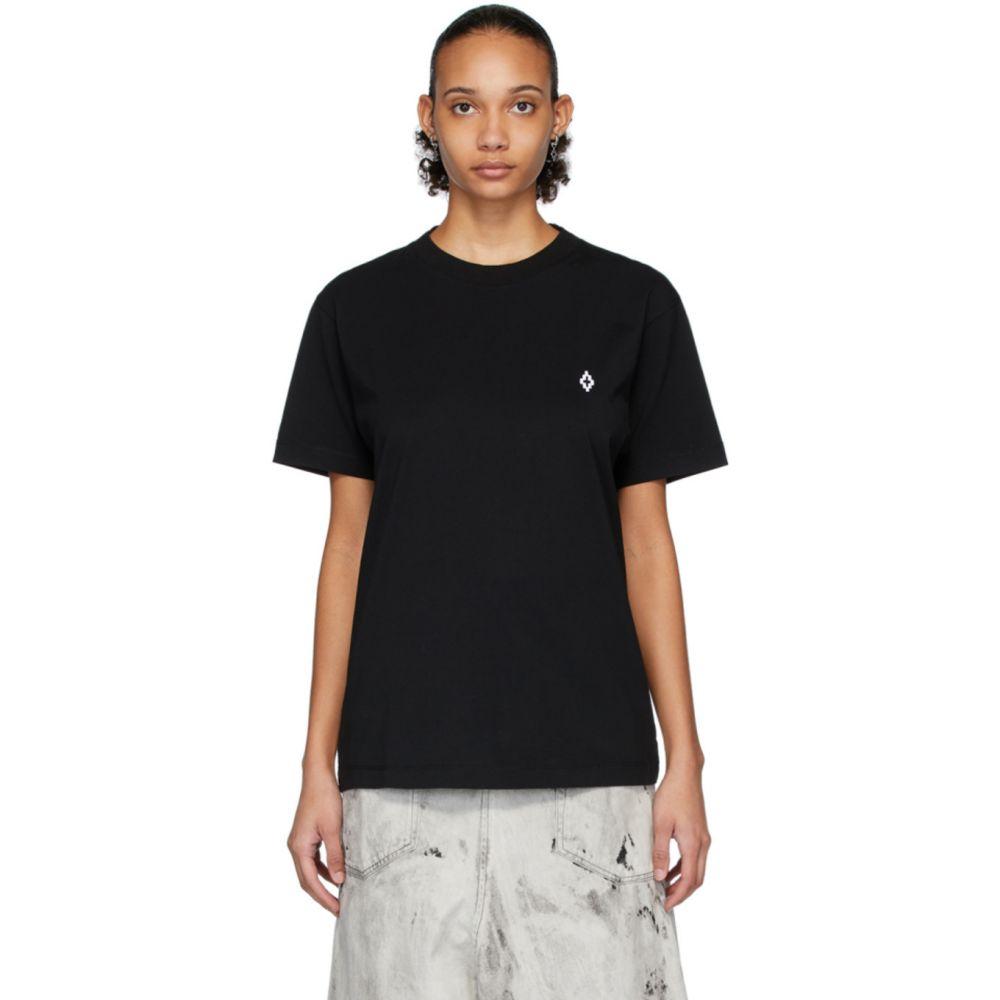 マルセロバーロン Marcelo Burlon County of Milan レディース Tシャツ トップス【Black Logo T-Shirt】Black/White