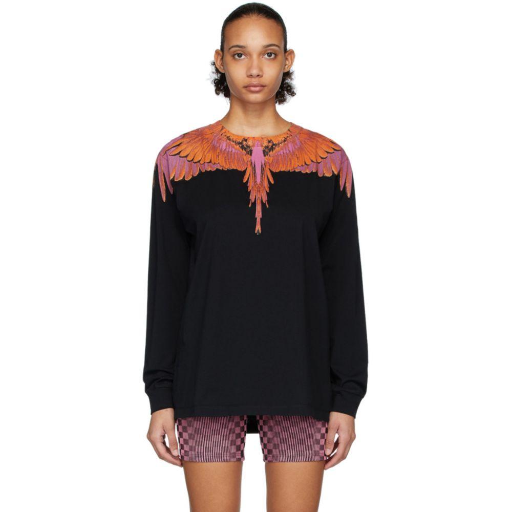 マルセロバーロン Marcelo Burlon County of Milan レディース 長袖Tシャツ トップス【Black & Red Wings Long Sleeve T-Shirt】Black/Red