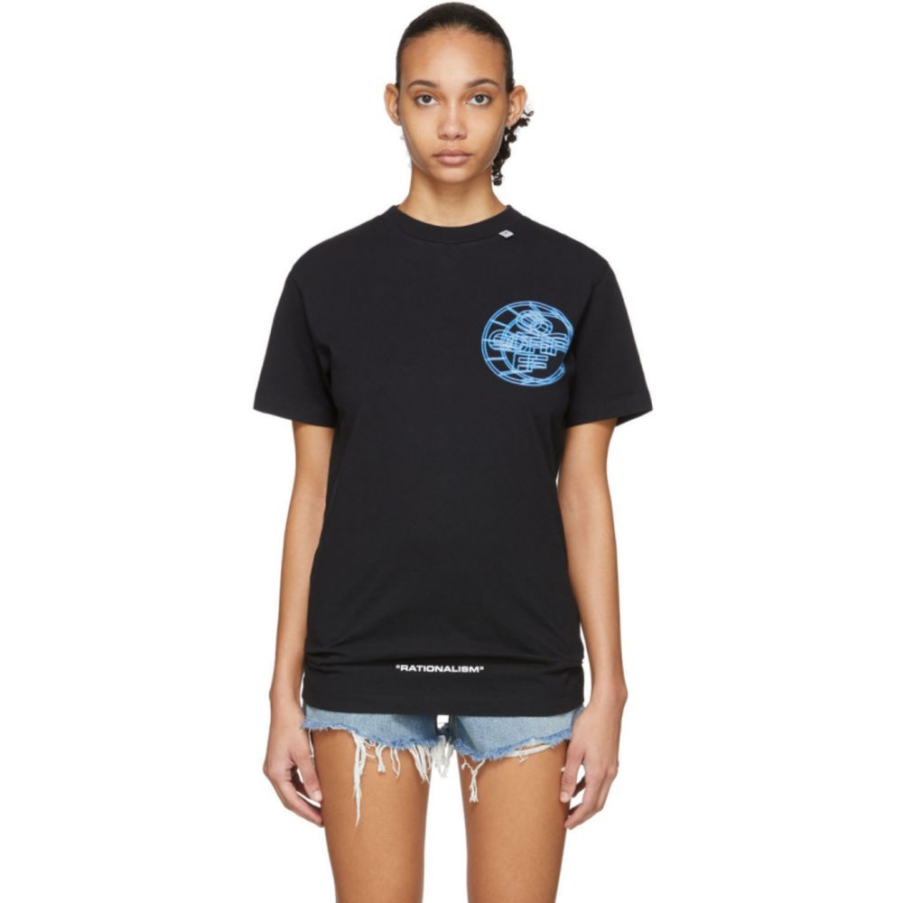 オフホワイト Off-White レディース Tシャツ トップス【Black 3D Crossed Off T-Shirt】Black/Multicolor