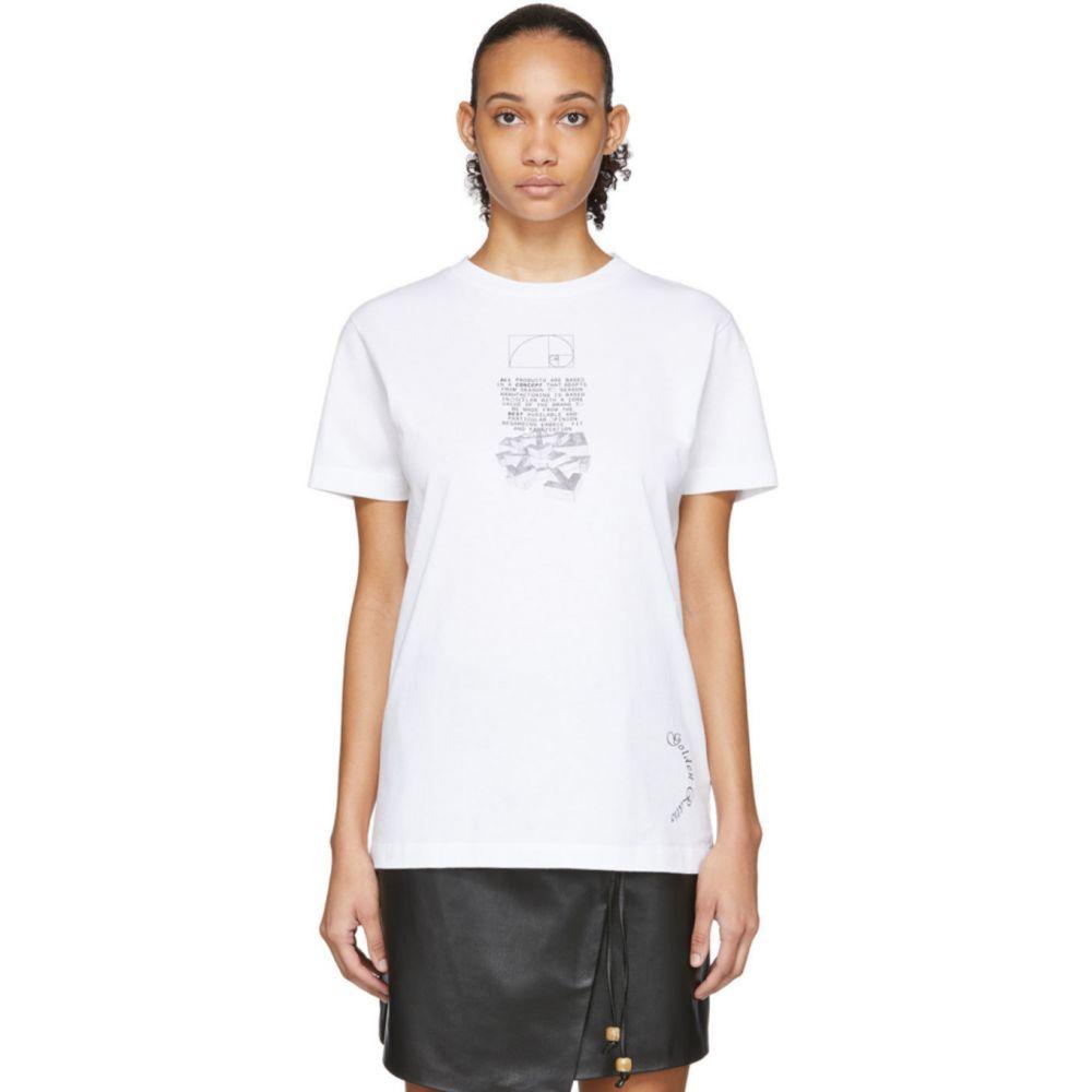 オフホワイト Off-White レディース Tシャツ トップス【White Dripping Arrows T-Shirt】White/Black