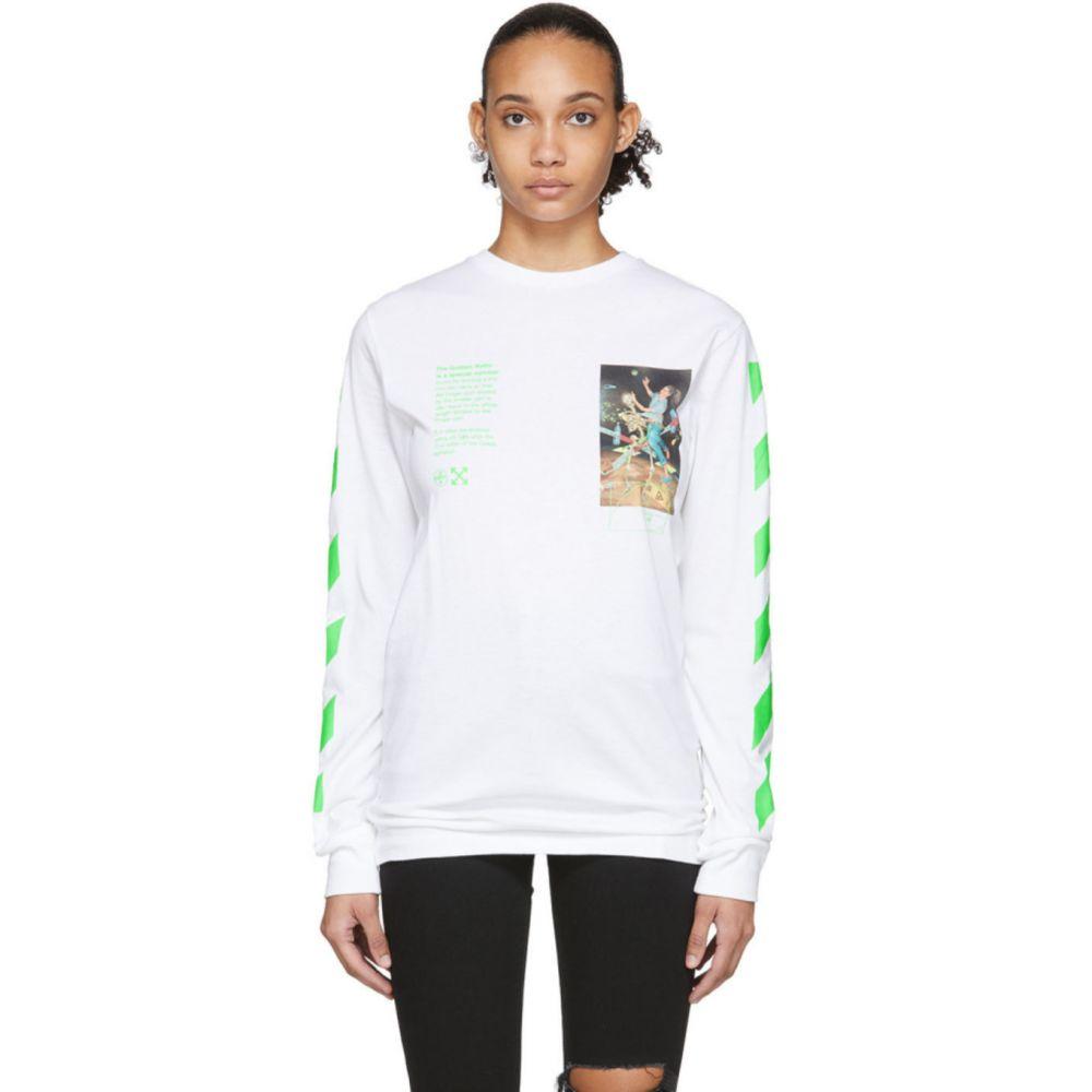 オフホワイト Off-White レディース 長袖Tシャツ トップス【White Pascal Painting Long Sleeve T-Shirt】White/Multicolor
