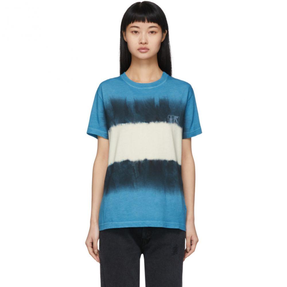 オフホワイト Off-White レディース Tシャツ トップス【Blue & White Tie-Dye Skinny Arrows T-Shirt】Blue/White