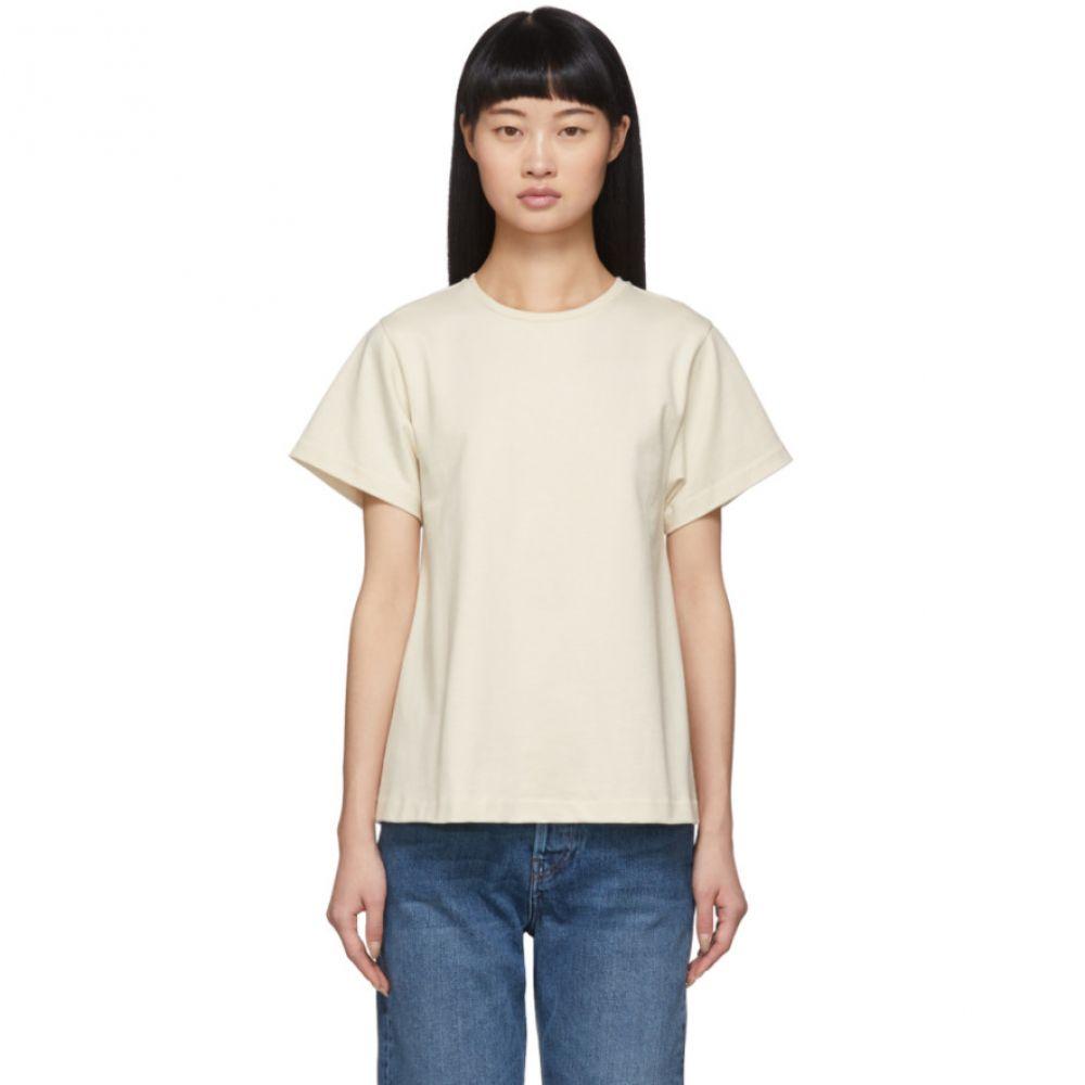 トーテム Toteme レディース Tシャツ トップス【Off-White Pemba T-Shirt】Creme