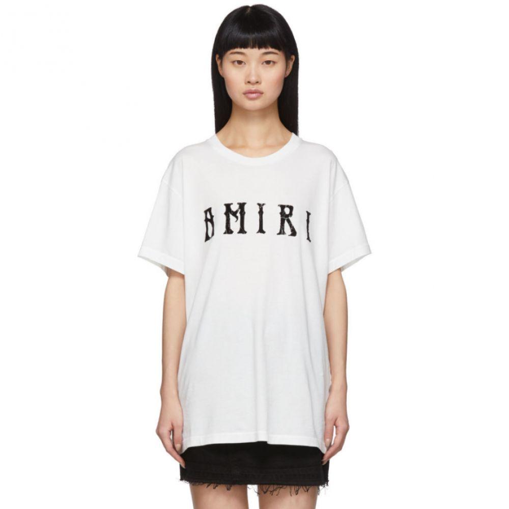 アミリ Amiri レディース Tシャツ トップス【White Hippie T-Shirt】Ivory