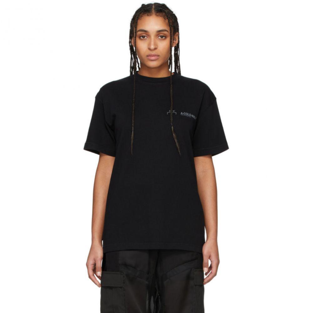 アコールドウォール A-Cold-Wall* レディース Tシャツ トップス【Black Logo T-Shirt】Black