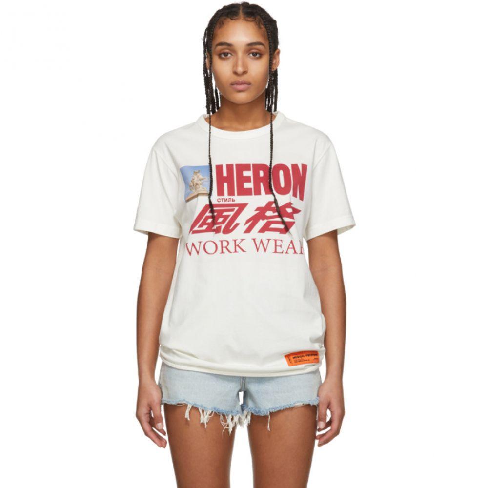 ヘロン プレストン Heron Preston レディース Tシャツ トップス【Off-White Horse T-Shirt】White