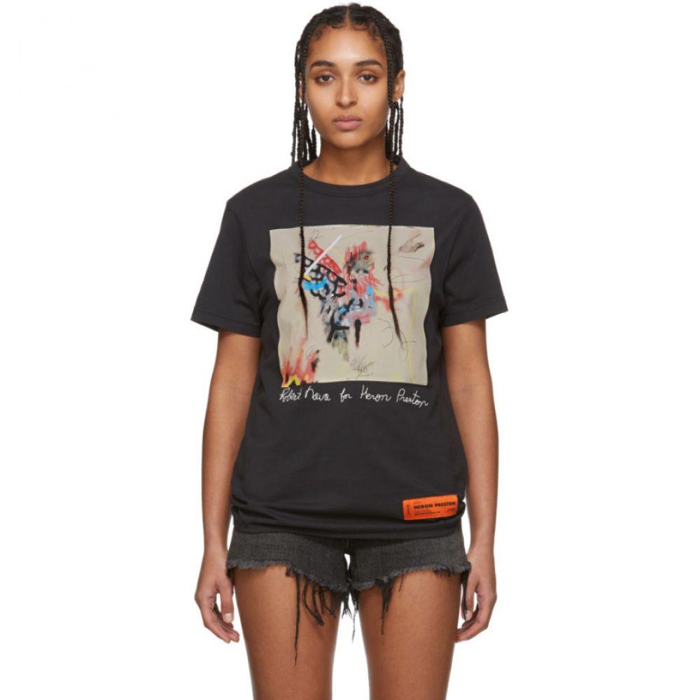 ヘロン プレストン Heron Preston レディース Tシャツ トップス【Black Robert Nava Edition T-Shirt】Black