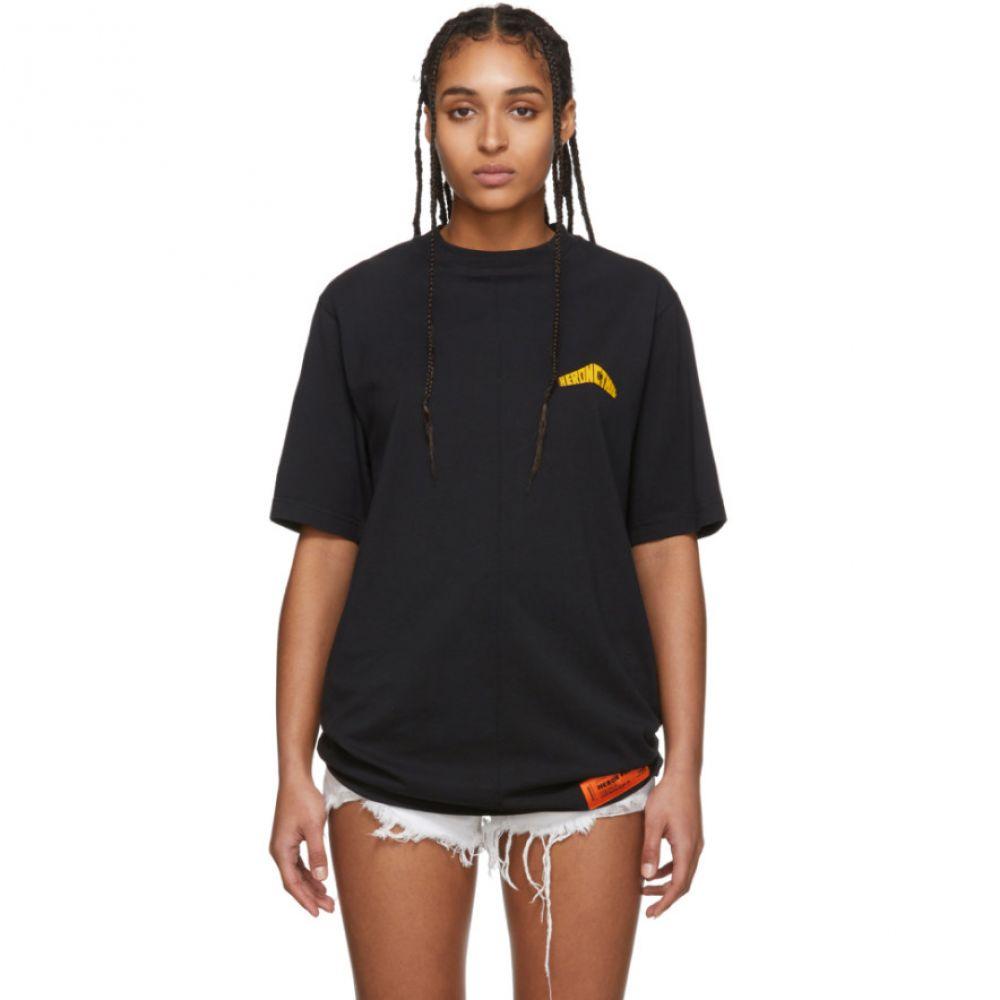 ヘロン プレストン Heron Preston レディース Tシャツ トップス【Black Over 'Style' T-Shirt】Black/Yellow