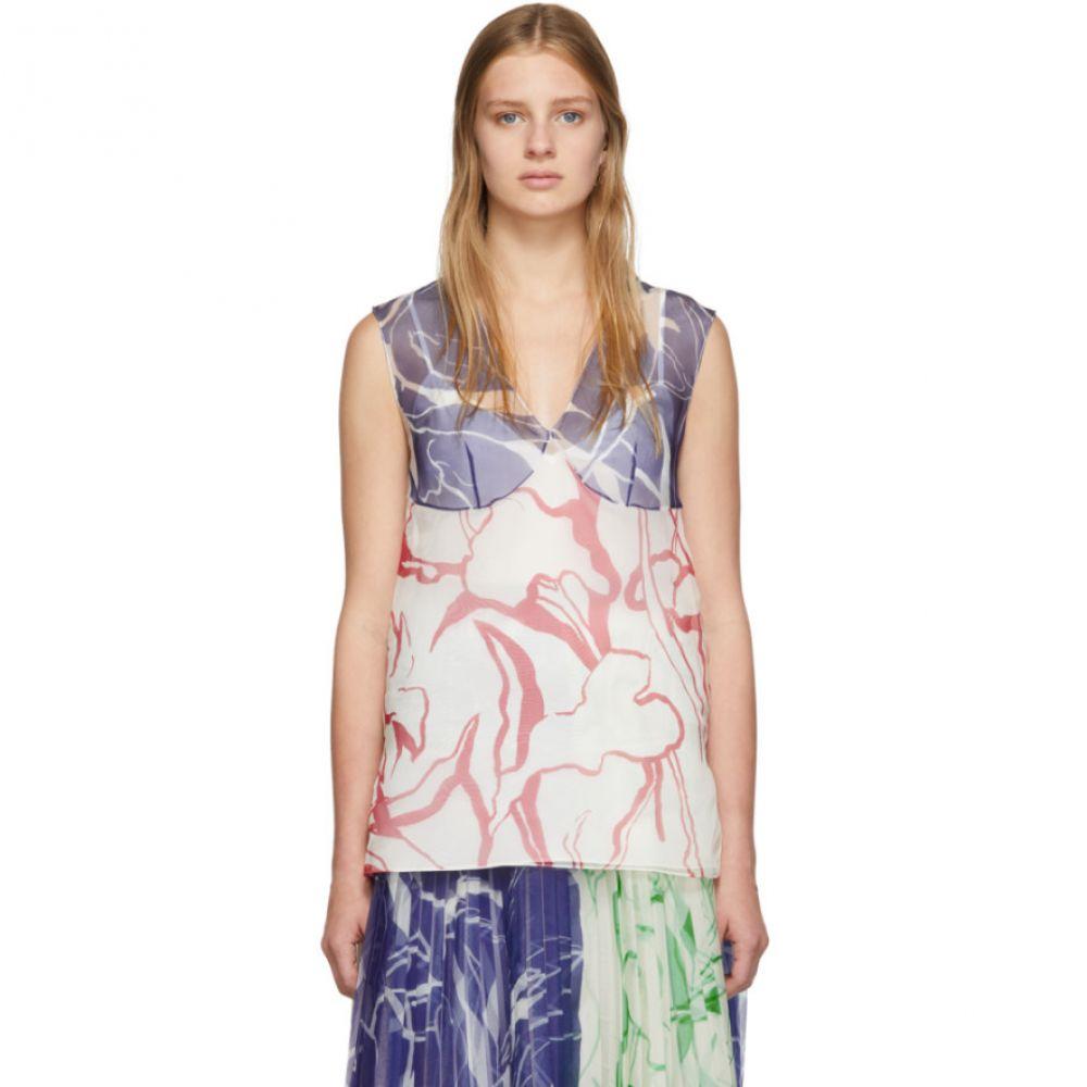 マリナ モスコーン Marina Moscone レディース タンクトップ トップス【SSENSE Exclusive Multicolor Silk Print Tank Top】