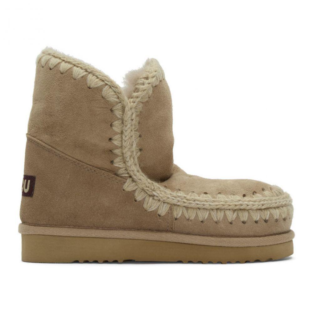 ムー Mou レディース ブーツ ショートブーツ シューズ・靴【Beige 18 Ankle Boots】Camel
