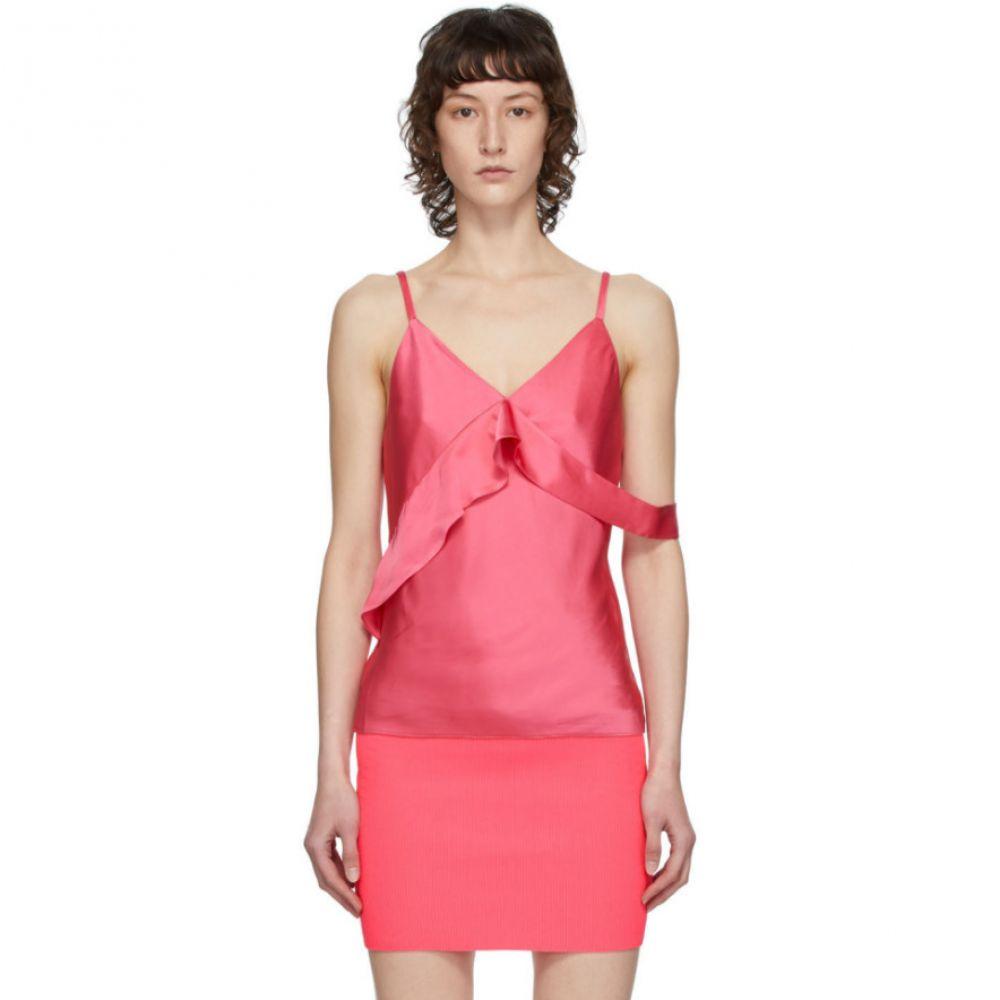 ヘルムート ラング Helmut Lang レディース スリップ・キャミソール インナー・下着【Pink Double Satin Sash Camisole】Neon pink
