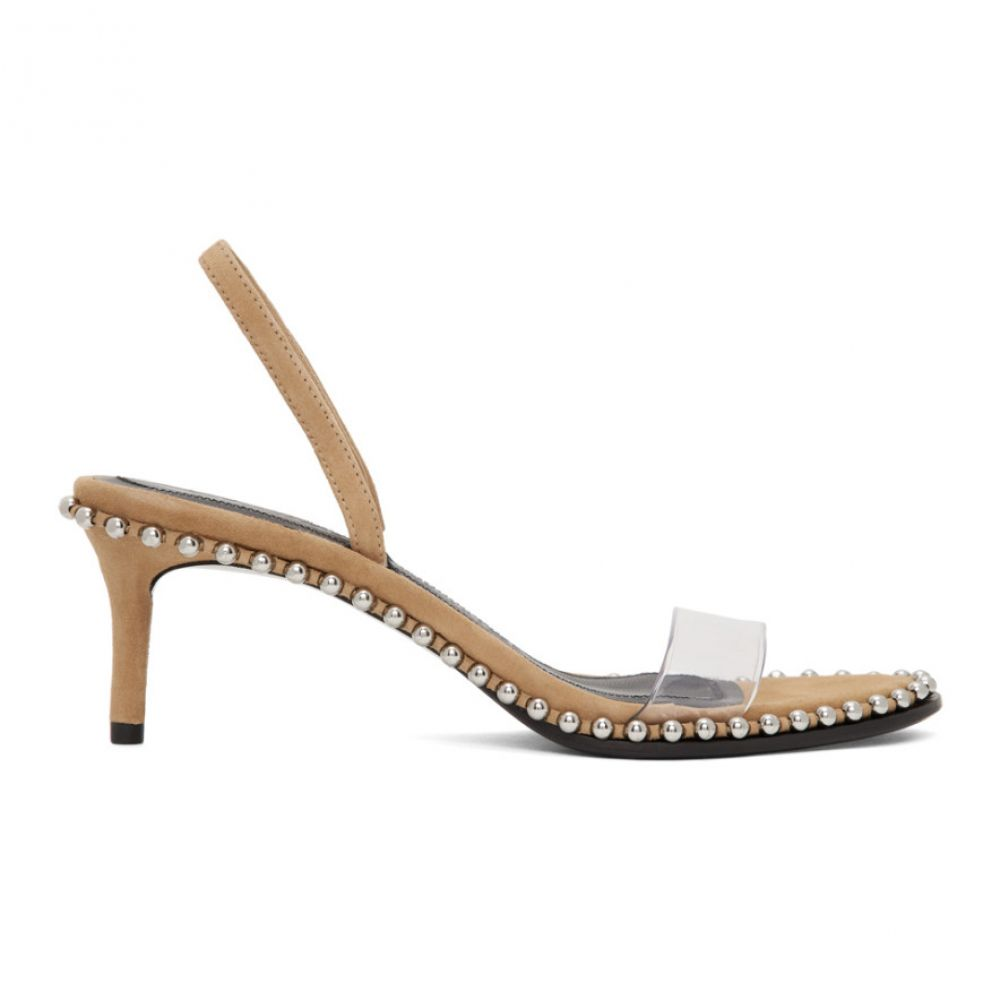 アレキサンダー ワン Alexander Wang レディース サンダル・ミュール シューズ・靴【Brown Nova Low Heeled Sandals】Clay