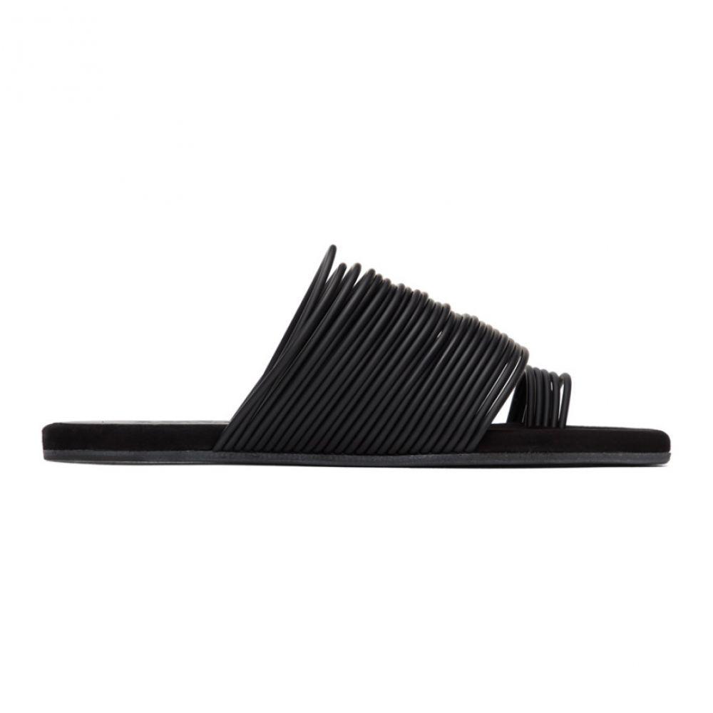 メゾン マルジェラ MM6 Maison Margiela レディース サンダル・ミュール シューズ・靴【Black Multi Strap Toe Sandals】Black