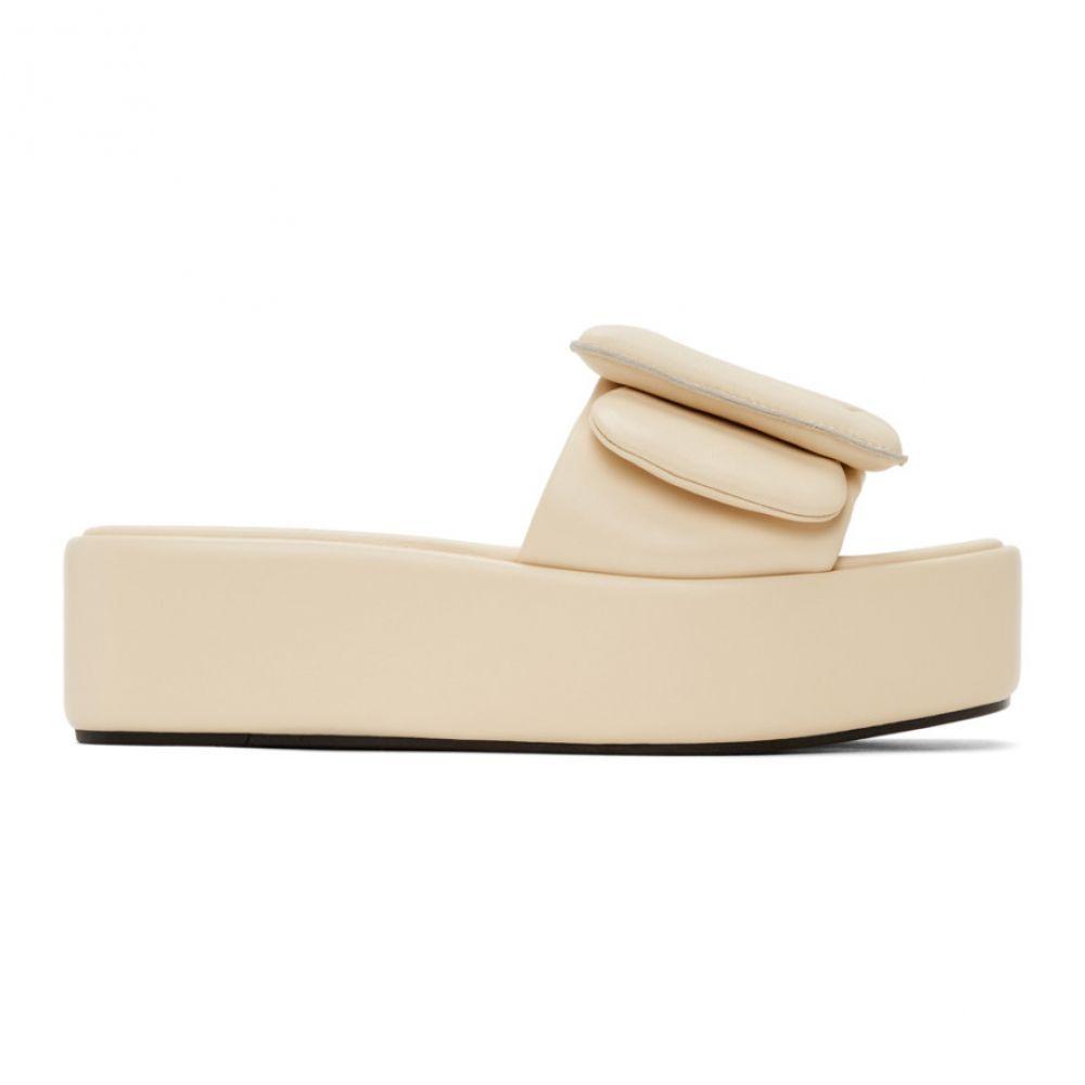 ボーイ BOYY レディース サンダル・ミュール シューズ・靴【Beige Puffy Platform Sandals】Ecru