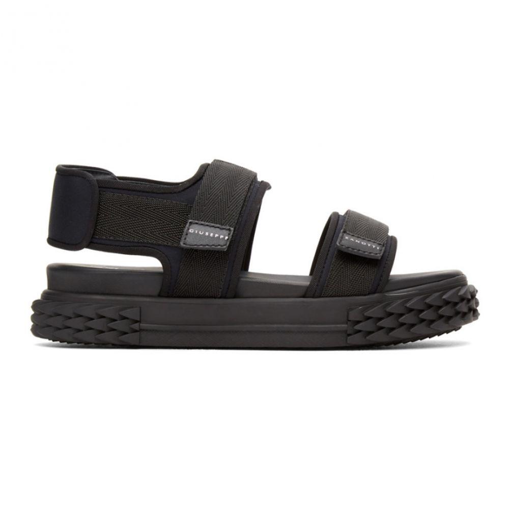 ジュゼッペ ザノッティ Giuseppe Zanotti レディース サンダル・ミュール フラット シューズ・靴【Black Carlito Flat Sandals】Black