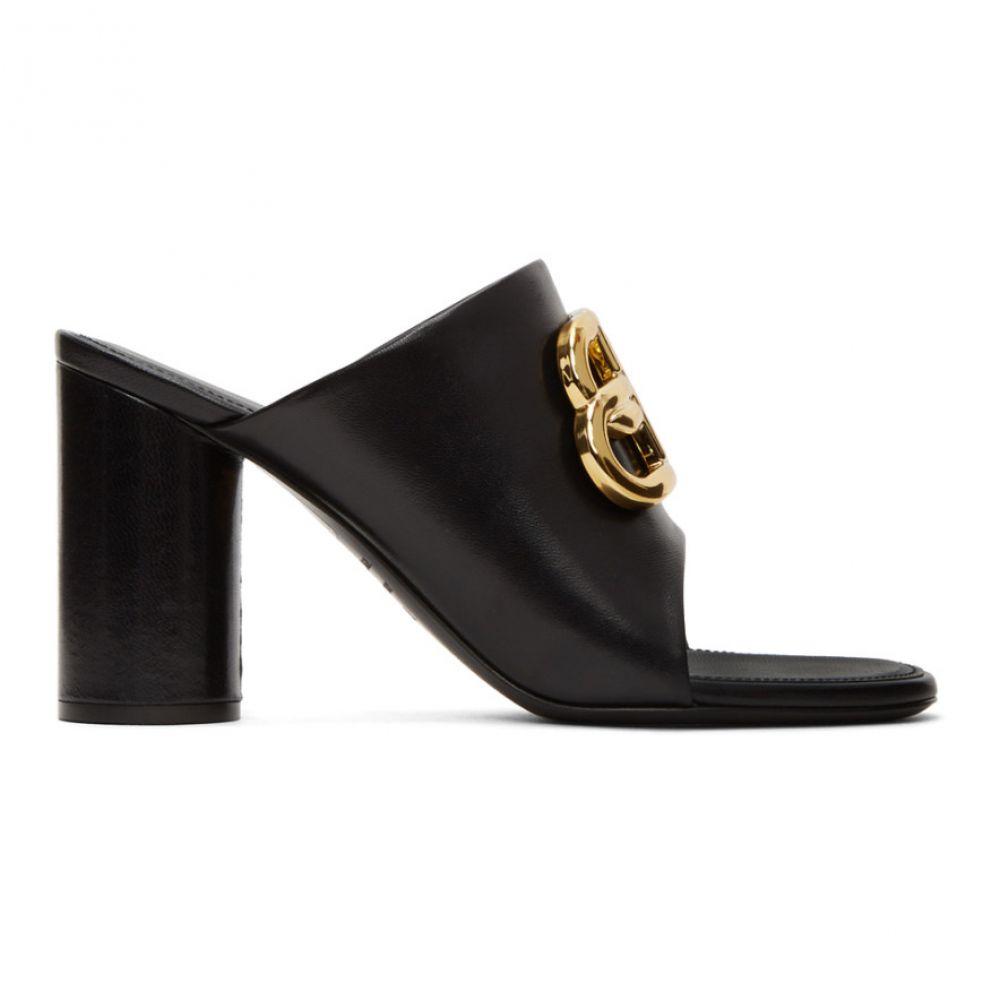 バレンシアガ Balenciaga レディース サンダル・ミュール シューズ・靴【Black Oval BB Heeled Sandals】Black