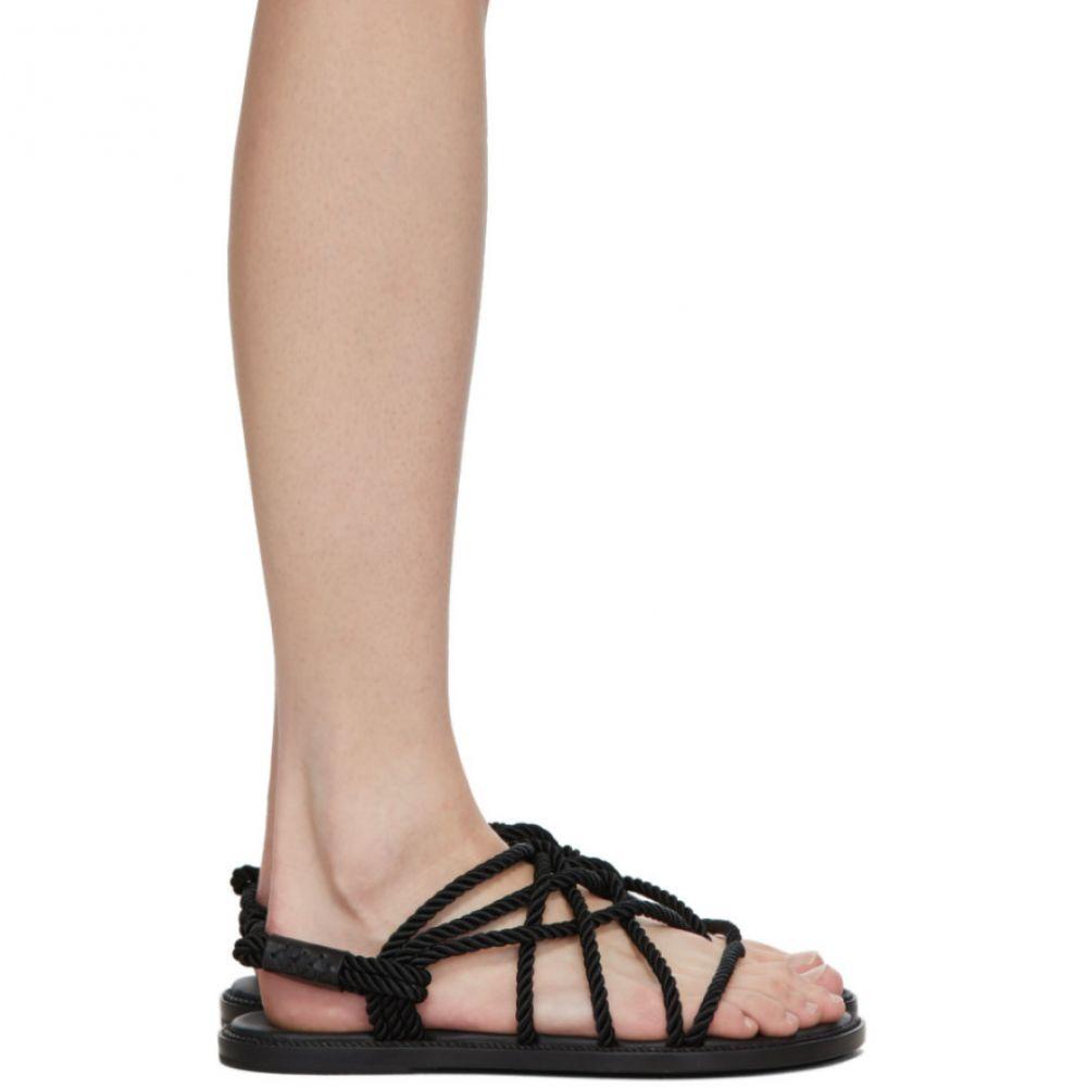 アンドゥムルメステール Ann Demeulemeester レディース サンダル・ミュール フラット シューズ・靴【Black Braided Tucson Flat Sandals】Black