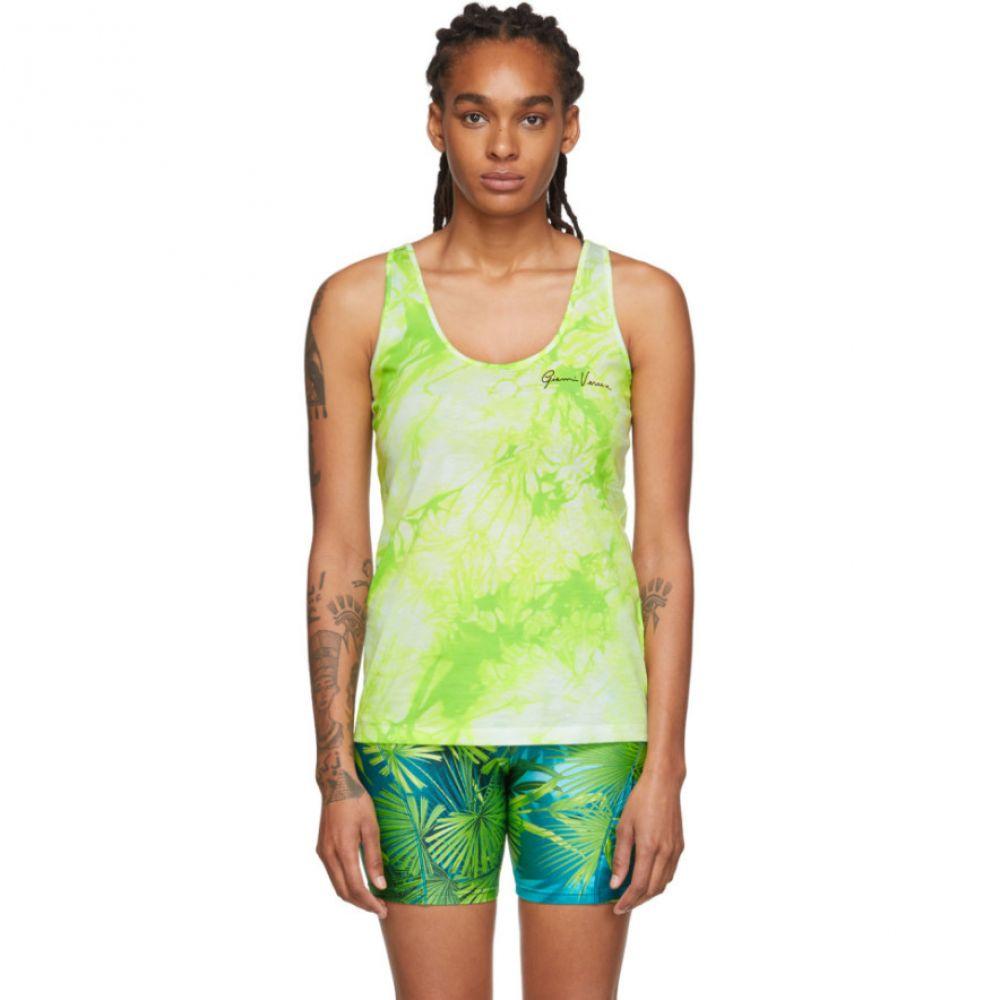 ヴェルサーチ Versace レディース タンクトップ トップス【Green Tie-Dye Tank Top】Green