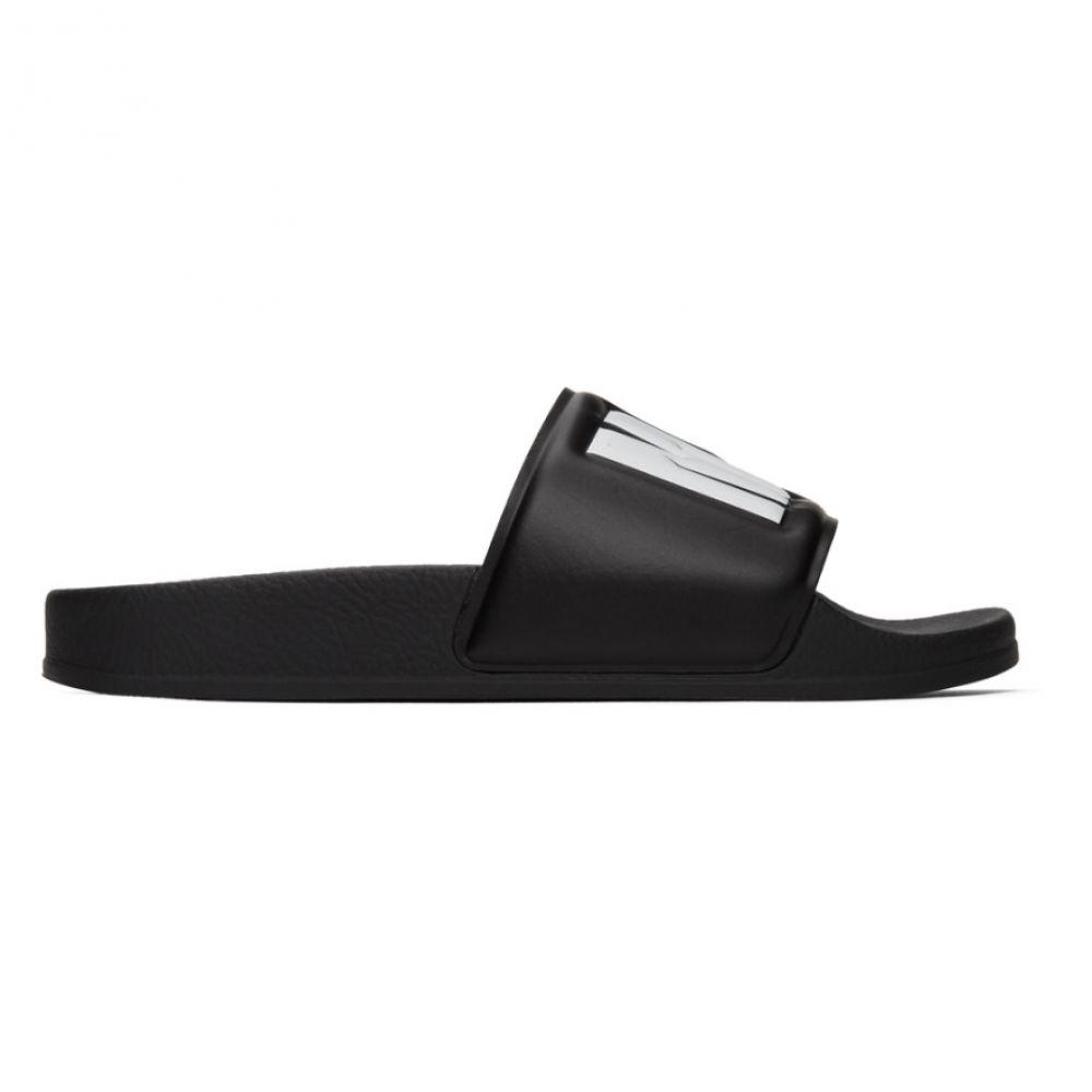 エムエスジーエム MSGM レディース サンダル・ミュール シューズ・靴【Black Logo Pool Slides】Black