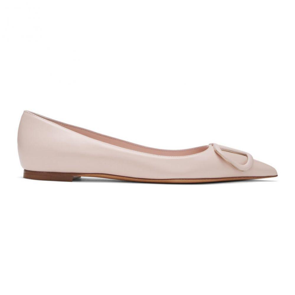 ヴァレンティノ Valentino レディース スリッポン・フラット シューズ・靴【Pink Garavani VLogo Ballerina Flats】Rose quartz