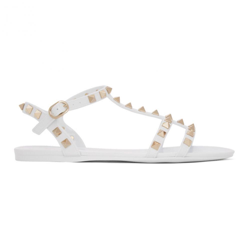ヴァレンティノ Valentino レディース サンダル・ミュール シューズ・靴【White Garavani Rockstud Jelly Sandals】White