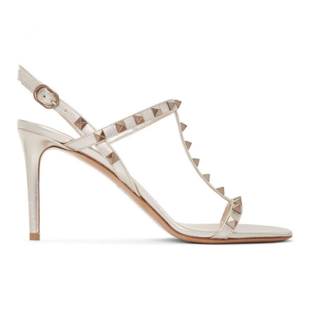 ヴァレンティノ Valentino レディース サンダル・ミュール シューズ・靴【Beige Garavani Rockstud Slingback Sandals】Skin