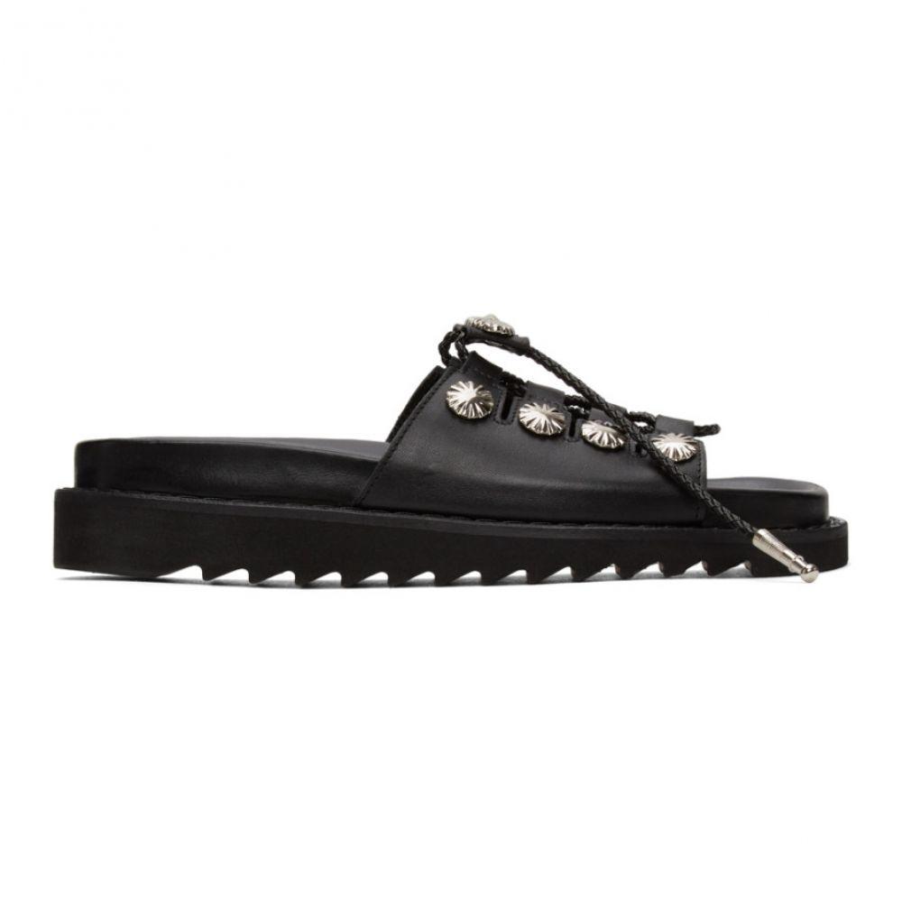 トーガ Toga Pulla レディース サンダル・ミュール シューズ・靴【Black Buckle Sandals】Black