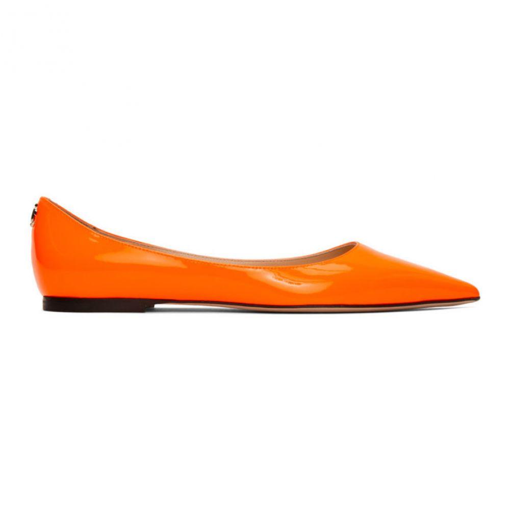 ジミー チュウ Jimmy Choo レディース スリッポン・フラット シューズ・靴【Orange Patent Love Ballerina Flats】Neon orange