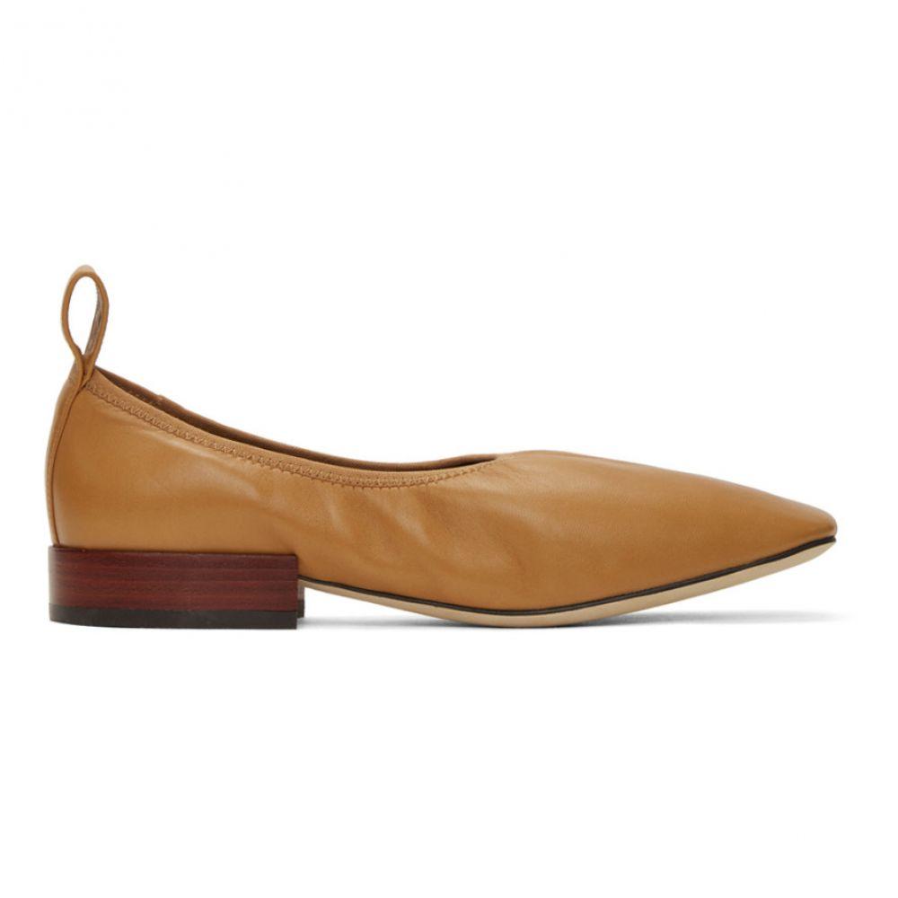 ロエベ Loewe レディース スリッポン・フラット シューズ・靴【Tan Soft Ballerina 25 Flats】Desert