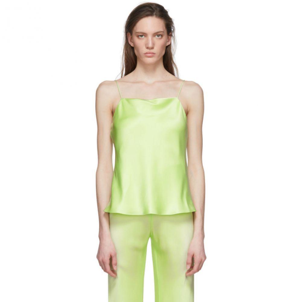 ロゼッタゲティー Rosetta Getty レディース スリップ・キャミソール インナー・下着【Green Bias Satin Camisole】Lime