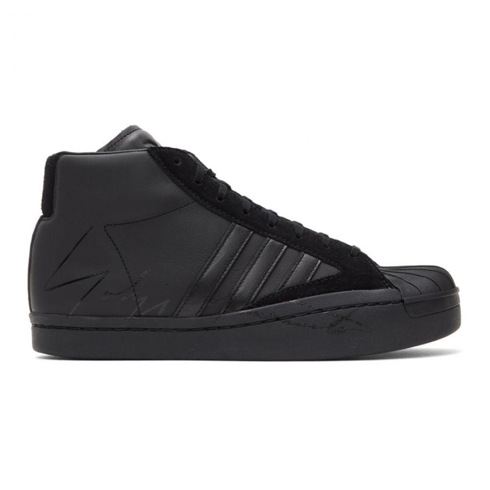 ワイスリー Y-3 レディース スニーカー シューズ・靴【Black Yohji Pro Sneakers】Black/Cloud white/Black