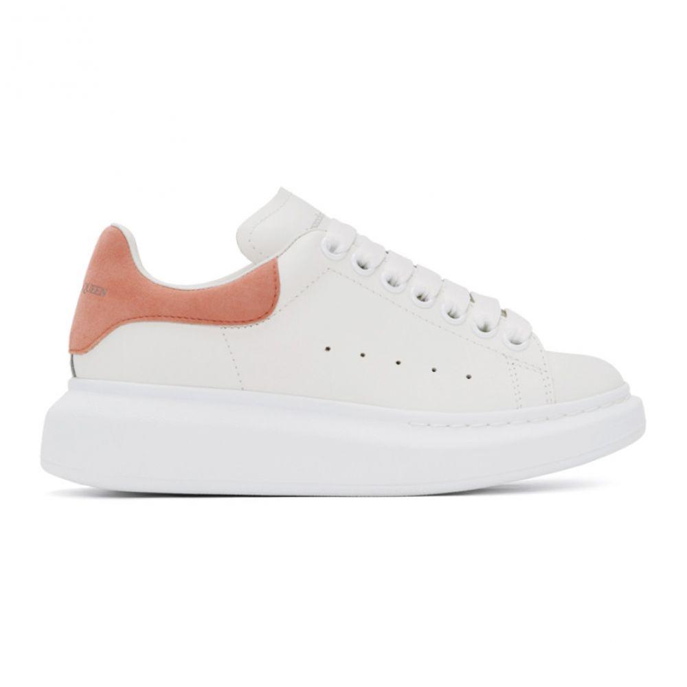 アレキサンダー マックイーン Alexander McQueen レディース スニーカー シューズ・靴【SSENSE Exclusive White & Pink Oversized Sneakers】White/Peach