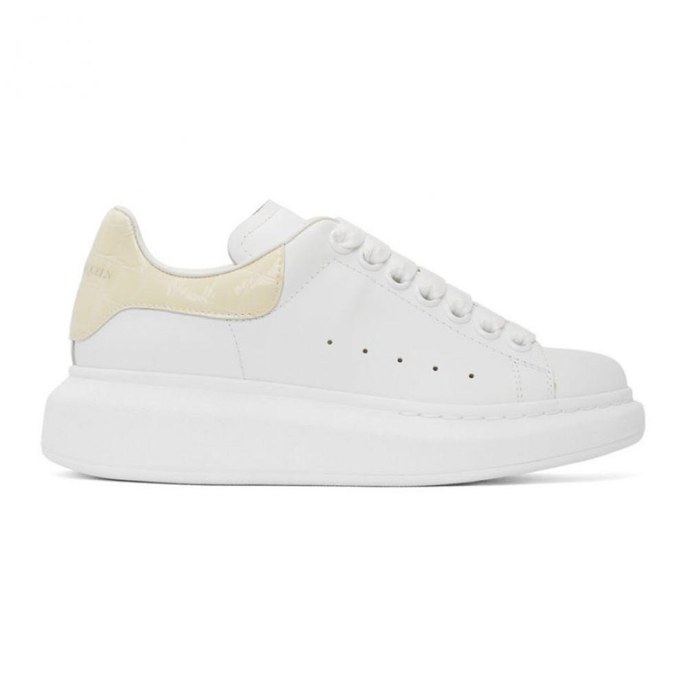 アレキサンダー マックイーン Alexander McQueen レディース スニーカー シューズ・靴【White & Off-White Croc Oversized Sneakers】White/Calico