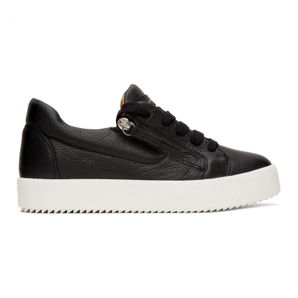 ジュゼッペ ザノッティ Giuseppe Zanotti レディース スニーカー シューズ・靴【Black Arena Low-Top Sneakers】Black