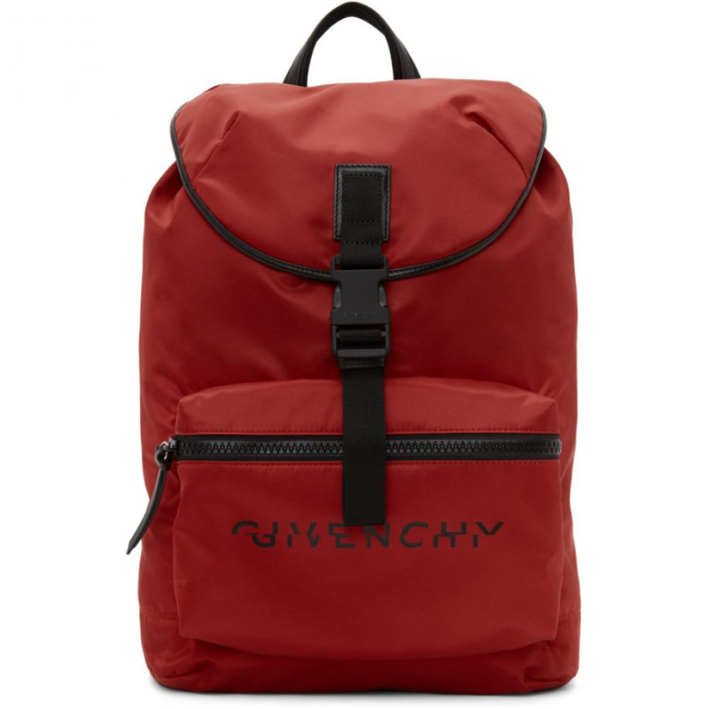 ジバンシー Givenchy メンズ バックパック・リュック バッグ【Red Split Logo Packaway Backpack】Red