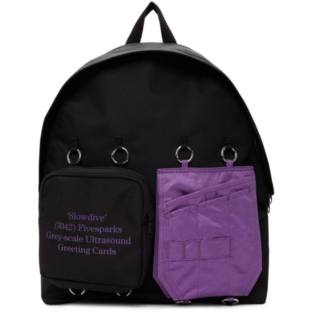 ラフ シモンズ Raf Simons メンズ バックパック・リュック バッグ【SSENSE Exclusive Black & Purple Eastpak Edition Quote Backpack】Purple/Black