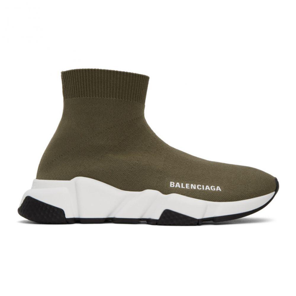 バレンシアガ Balenciaga レディース スニーカー シューズ・靴【Green Speed Sneakers】Khaki/White