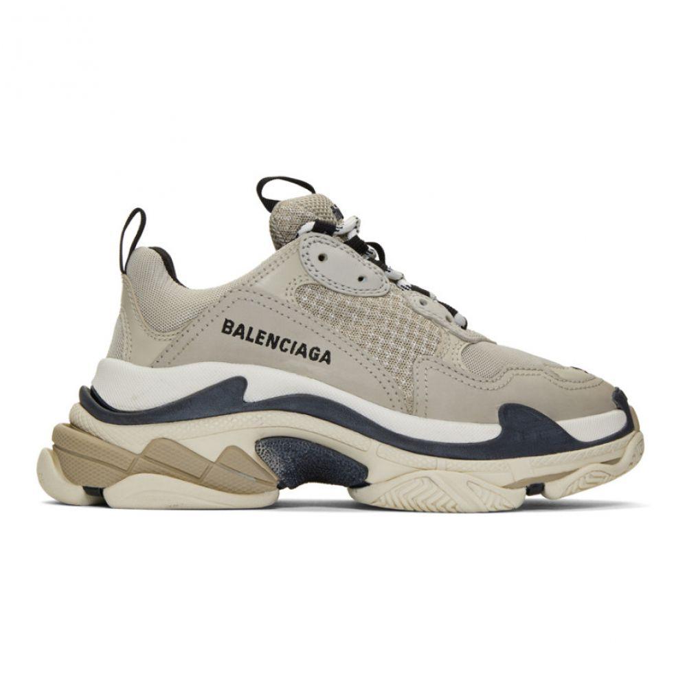 バレンシアガ Balenciaga レディース スニーカー シューズ・靴【Beige Triple S Sneakers】Beige