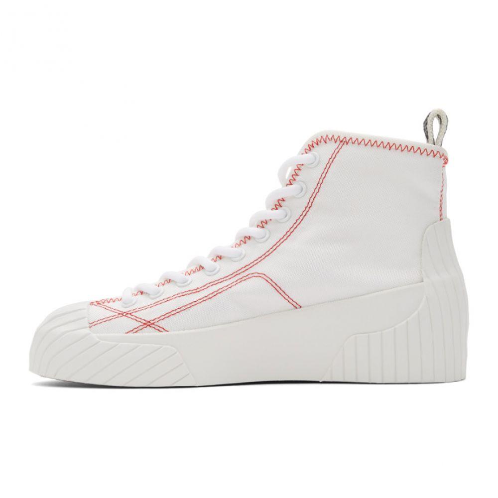 ケンゾー Kenzo レディース スニーカー シューズ・靴 White Volkano High Top Sneakers WhiteqMVUpSz