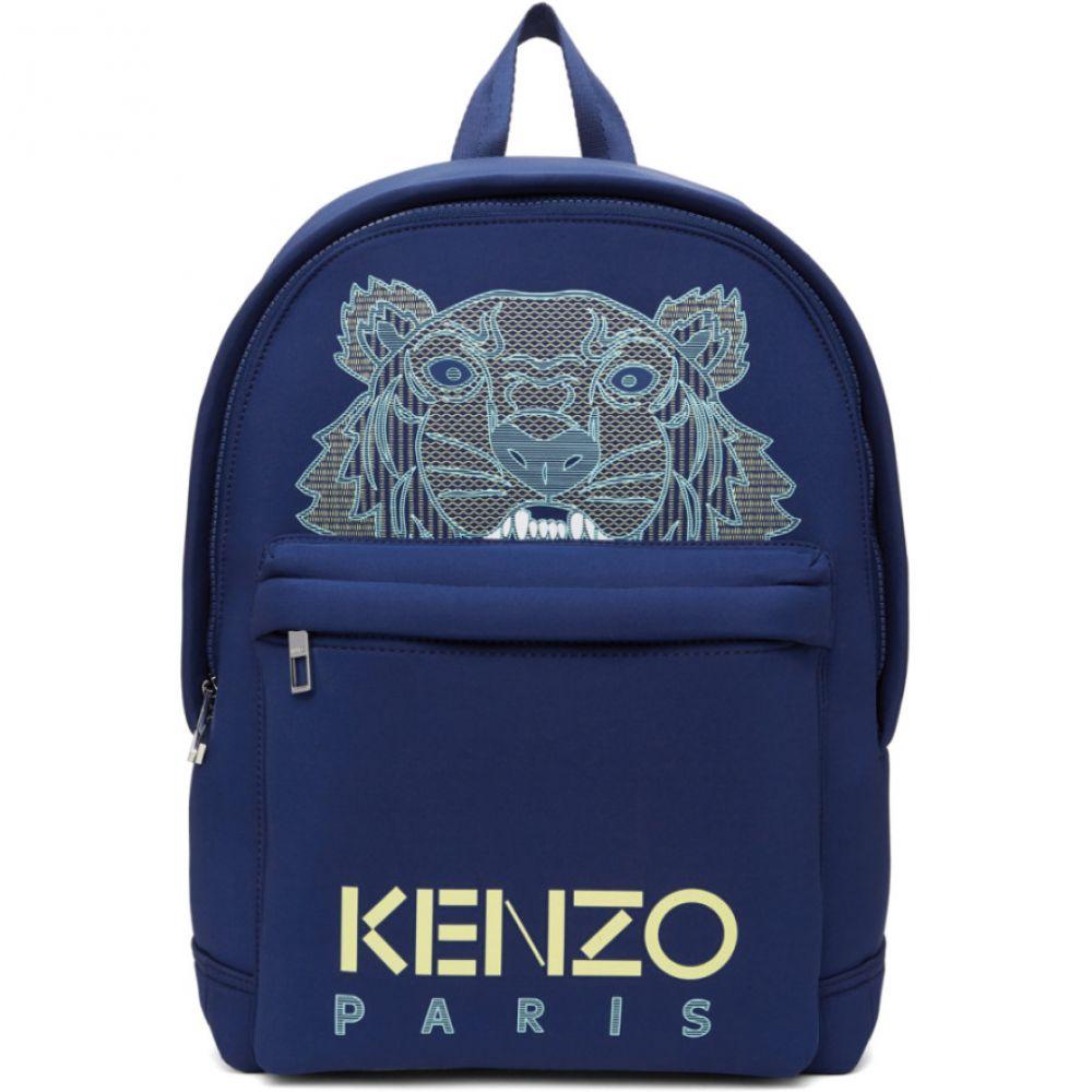 ケンゾー Kenzo メンズ バックパック・リュック バッグ【Blue Neoprene Large Tiger Backpack】Navy blue