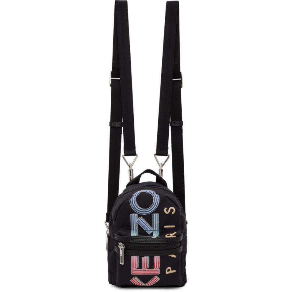 ケンゾー Kenzo メンズ バックパック・リュック バッグ【Black Large Logo Sport Backpack】Black