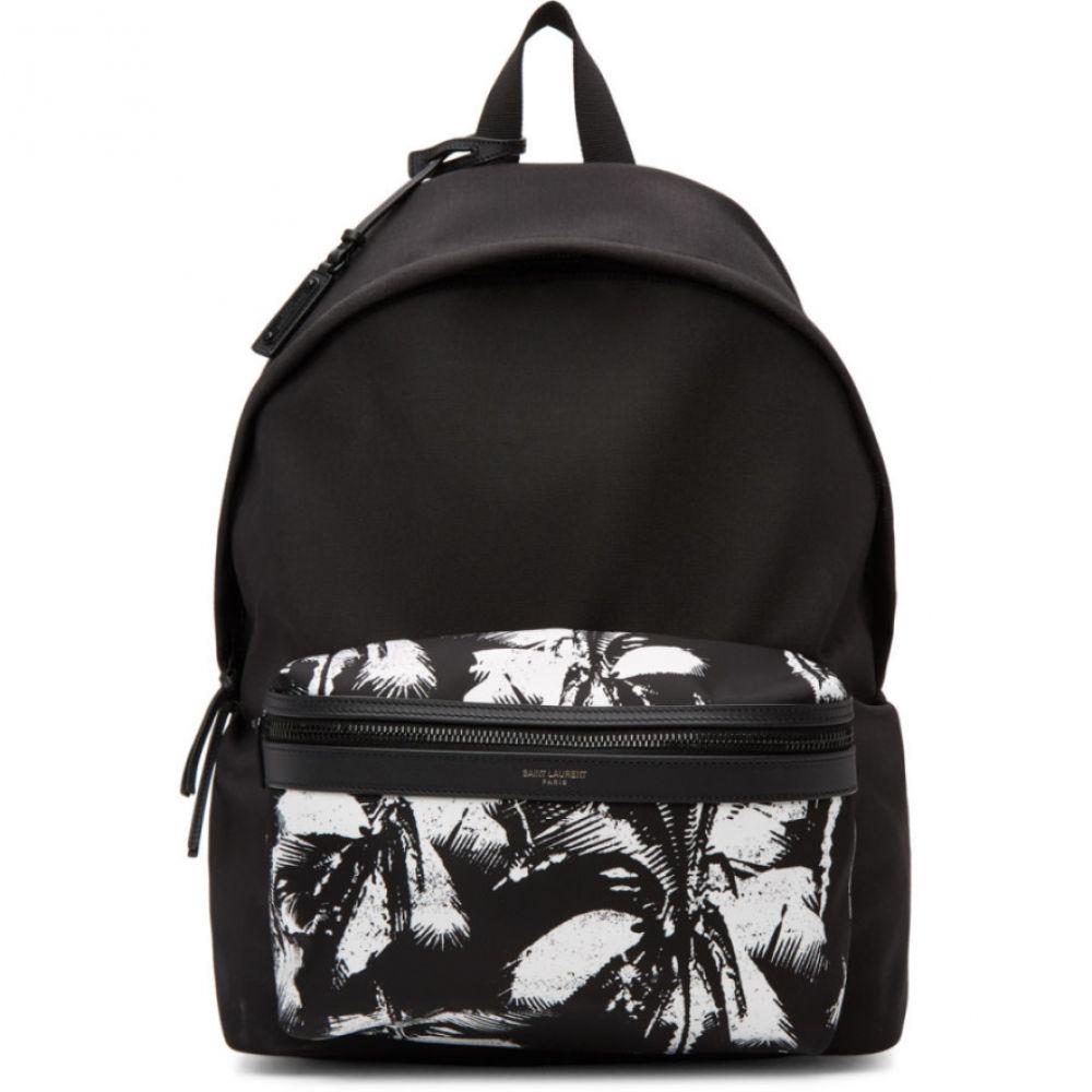 イヴ サンローラン Saint Laurent メンズ バックパック・リュック バッグ【Black Canvas Palm City Backpack】Black