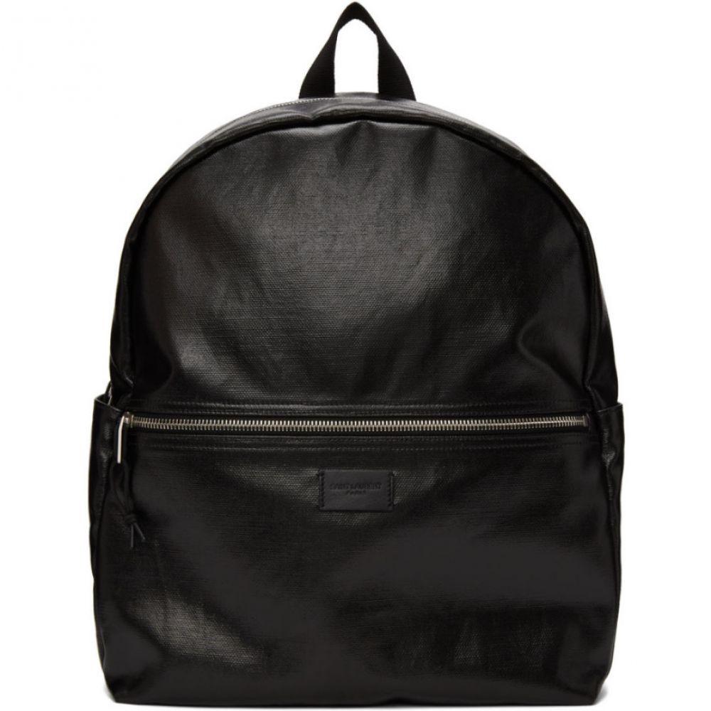 イヴ サンローラン Saint Laurent メンズ バックパック・リュック バッグ【Black Coated Canvas Nuxx Backpack】Black