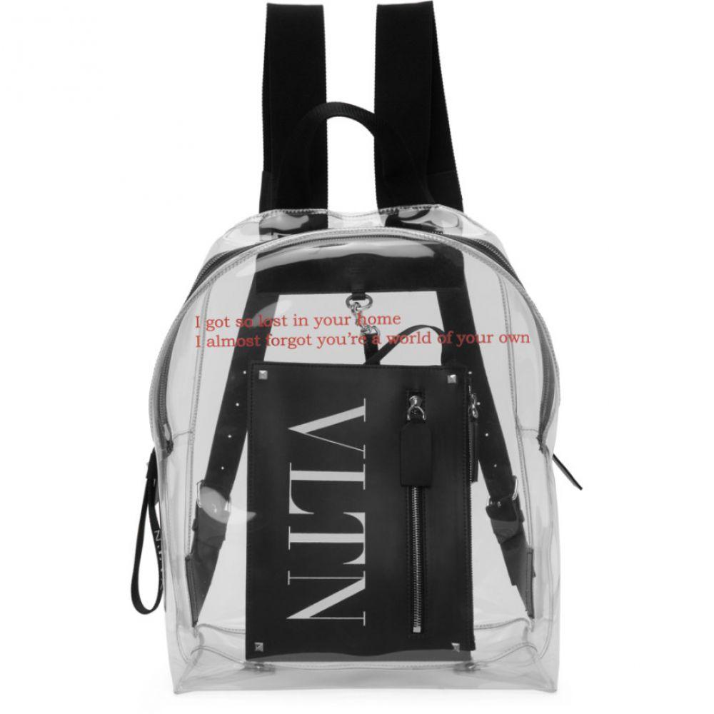 ヴァレンティノ Valentino メンズ バックパック・リュック バッグ【Transparent Garavani Pouch Backpack】Transparent